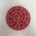 Image of Red & White Art Glass Bowl
