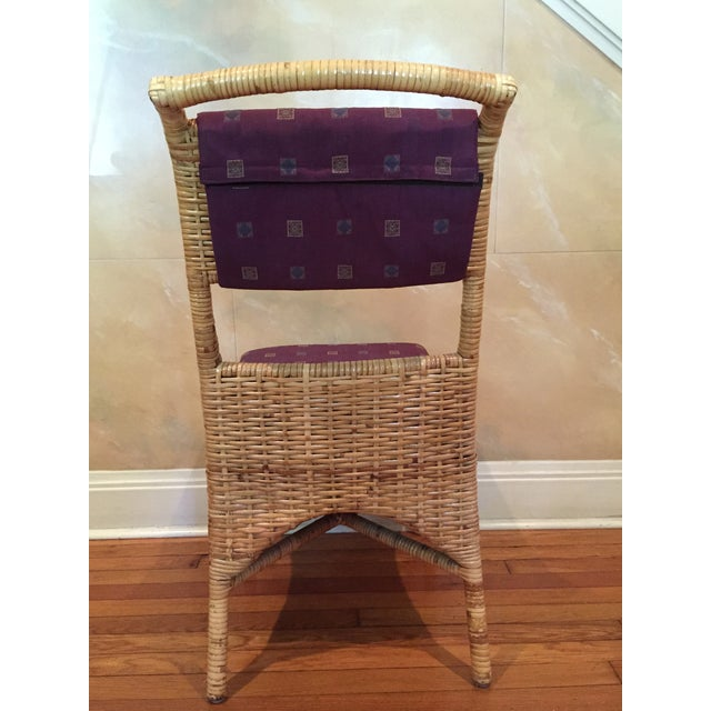 Vintage McGuire Caned Side Chair - Image 6 of 8