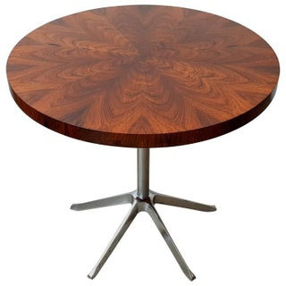 Rosewood Occasional Table with Aluminum Base, 1970s