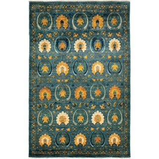 New Arts & Crafts Hand-Knotted Rug - 6′ × 9′4″