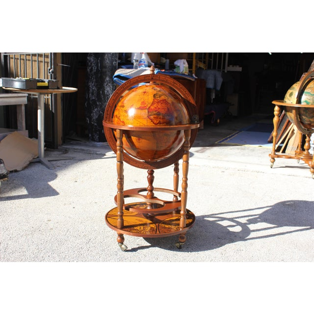 Image of 1950s French Art Deco Style Globe Bar