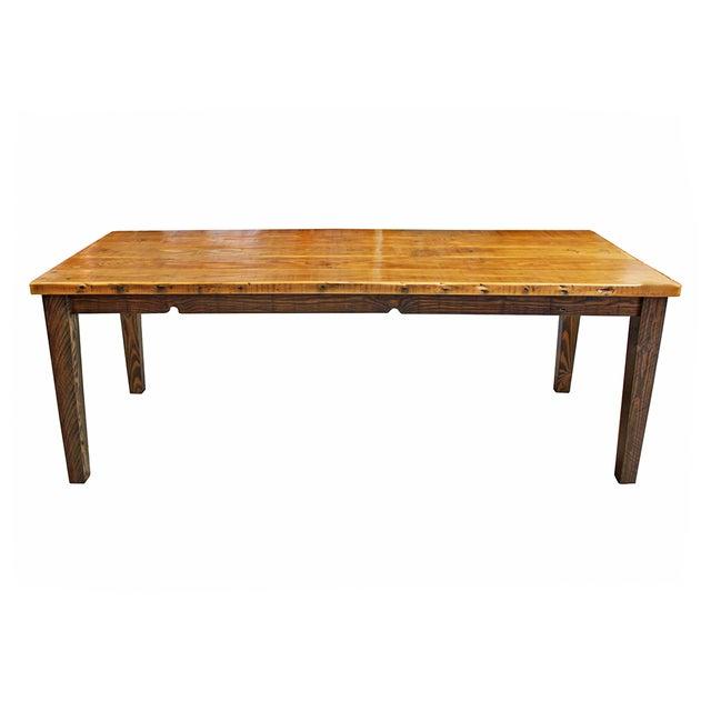 Reclaimed Douglas Fir Farm Table - Image 1 of 4