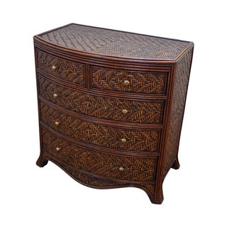 Maitland Smith Rattan Bow Front Chest