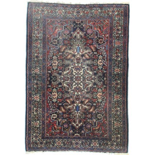RugsinDallas Hand-Knotted Wool Persian Hamedan - 3′7″ × 5′1″