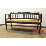 Image of Painted Country French Triple Rush Seat Bench