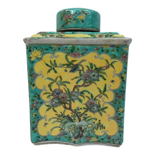Colorful Chinese Chinoiserie Ginger Jar