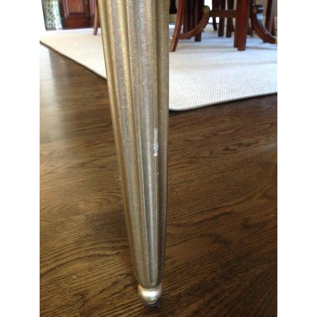 Interior Crafts Silver Leaf Upholstered Bench - Image 6 of 11