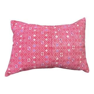 Antique Hand-Woven Silk Wedding Quilt Pillow
