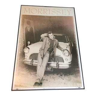 """Authentic Vintage Morrissey """"Leaning Car"""" Poster Printed in Manchester England From 1991"""