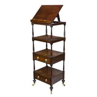Classical Regency Mahogany Étagère with Music Stand
