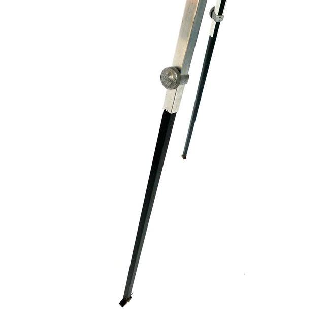 Aluminum & Wood Tripod Floor Lamp - Image 4 of 6