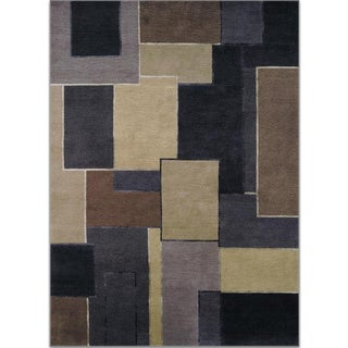 Lulu Dk Tibetan Collection Icon Chocolate Rug - 8′ × 12′
