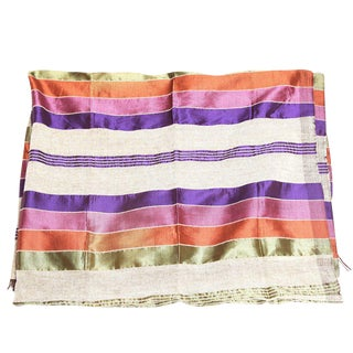 Handmade Beige Safi Throw