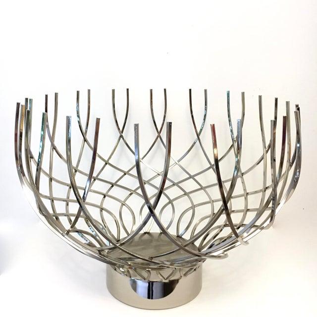 Large Modern Silver Bowl - Image 2 of 5