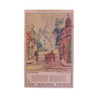 "Original 1928 ""Three Rivers"" Print"