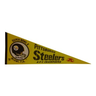Vintage NFL Pittsburgh Steelers Team Pennant