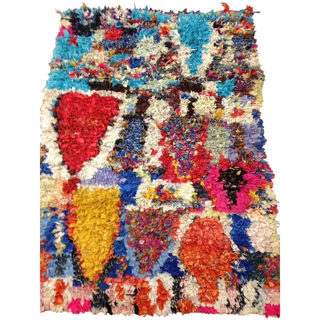 Boucherite Rag Carpet - 4′6″ × 5′ - Image 1 of 5