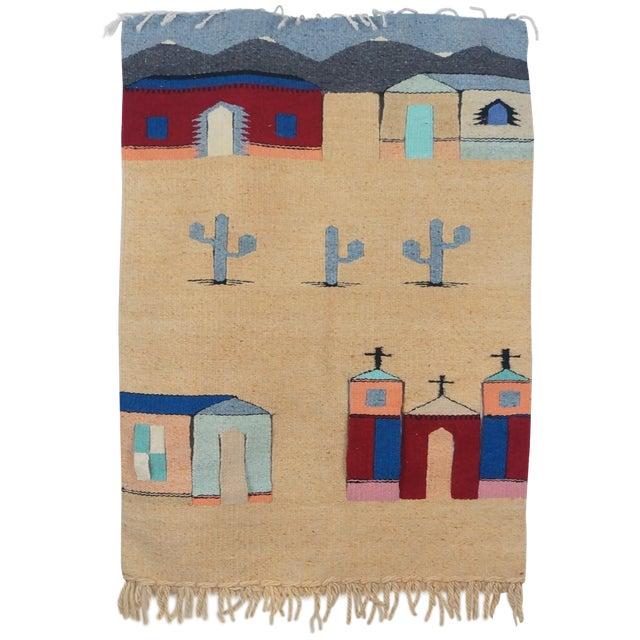 Vintage Fiber Art Southwestern Woven Hanging - Image 1 of 6