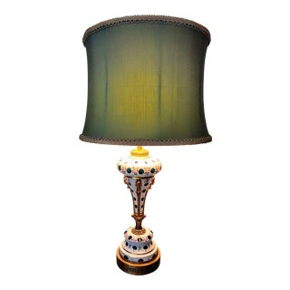 Paul Hanson Hollywood Regency Glass Lamp