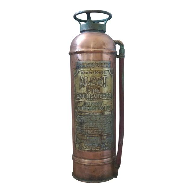 """Vintage """"Alert"""" Copper Fire Extinguisher - Image 1 of 5"""
