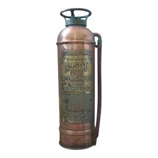 """Vintage """"Alert"""" Copper Fire Extinguisher"""