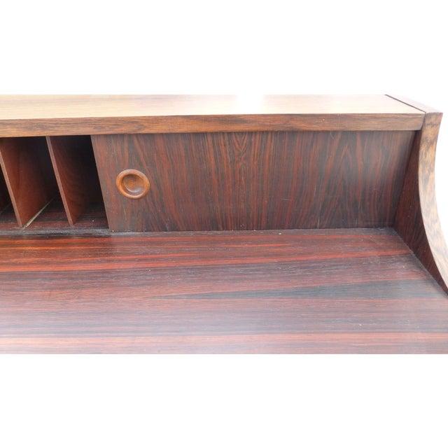 Midcentury Danish Modern Rosewood Desk - Image 5 of 11