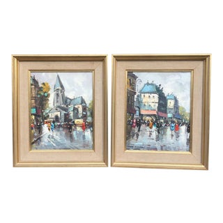 Paris Oil Paintings by Sungott - Set of 2