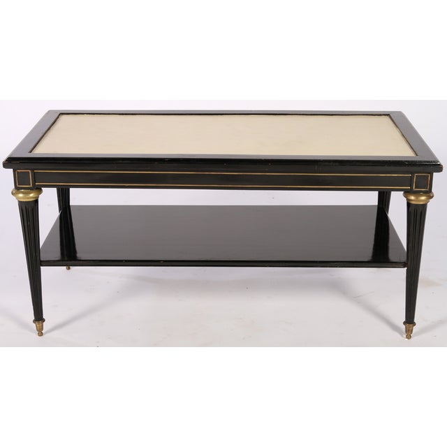 Directoire Style Ebonized Coffee Table - Image 2 of 6