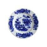 Image of Antique Flow Blue Chinoiserie Wall Plate