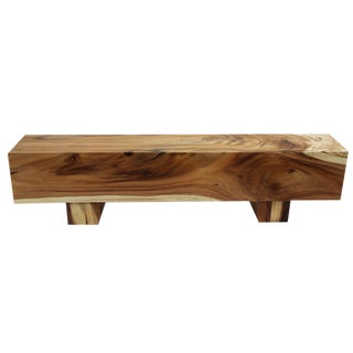 Modern Saur Wood Block Bench