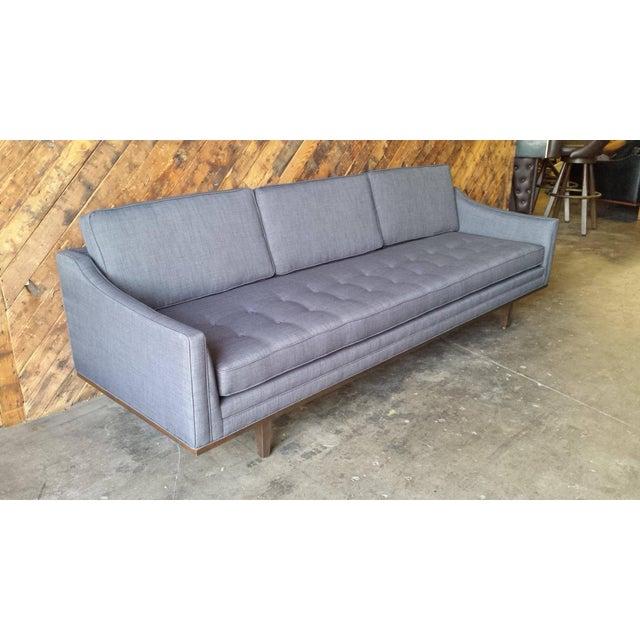 Mid Century Style Sofa: Mid-Century Style Custom Sofa With Walnut Trim