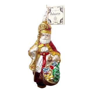 Kurt Adler Polonaise Santa With Staff Ornament