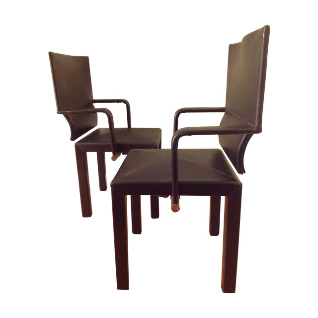 Image of B&b Italia Contemporary Dining Chairs - A Pair