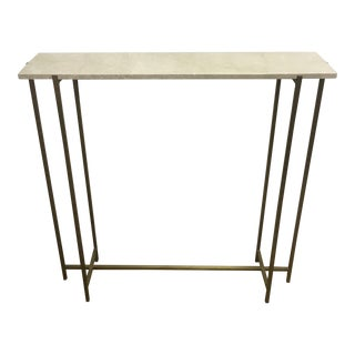 Cream Marble & Antique Brass Console Table