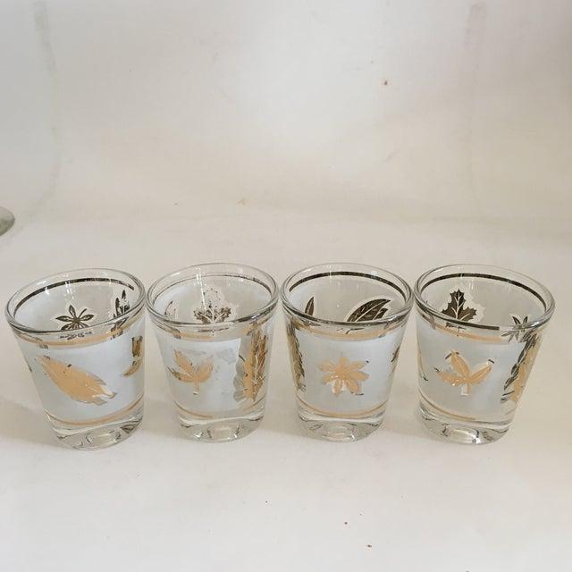 Image of Libbey Starlyte Gold Leaf Glasses - Set of 9