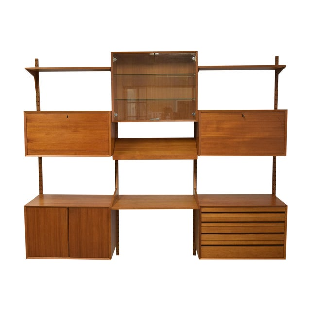 Mid-Century Modern Adjustable Wall Unit - Image 1 of 10