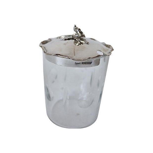Sterling Silver & Crystal Honey Pot - Image 2 of 3