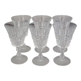 Vintage French Crystal Sherry Glasses S/6