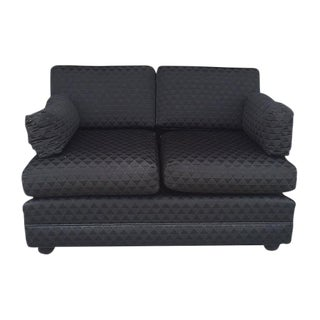 Black Fabric & Lucite Loveseat