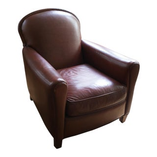 Swept Back Leather Chair
