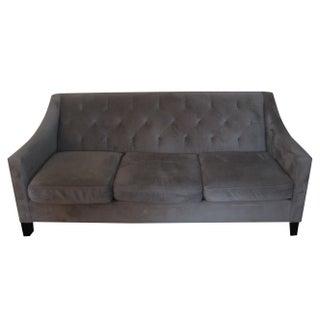 Macy's Tufted Back Sofa in Gray