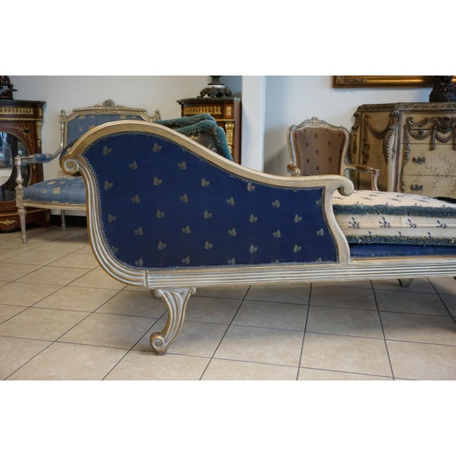 Vintage Hand Carved Chaise Lounge - Image 6 of 11
