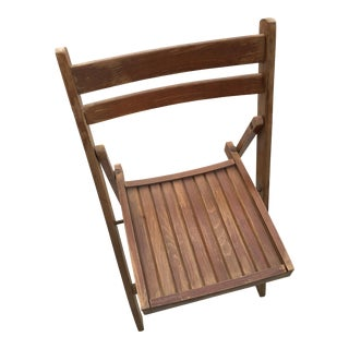 Vintage Wooden Lawn Chair
