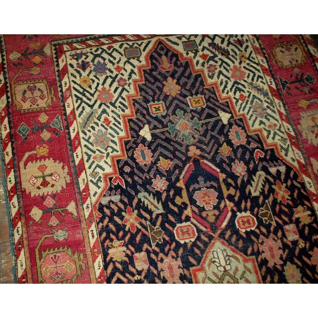 1880s Antique Hand Made Caucasian Karabagh Rug- 4′6″ × 11′7″ - Image 10 of 10