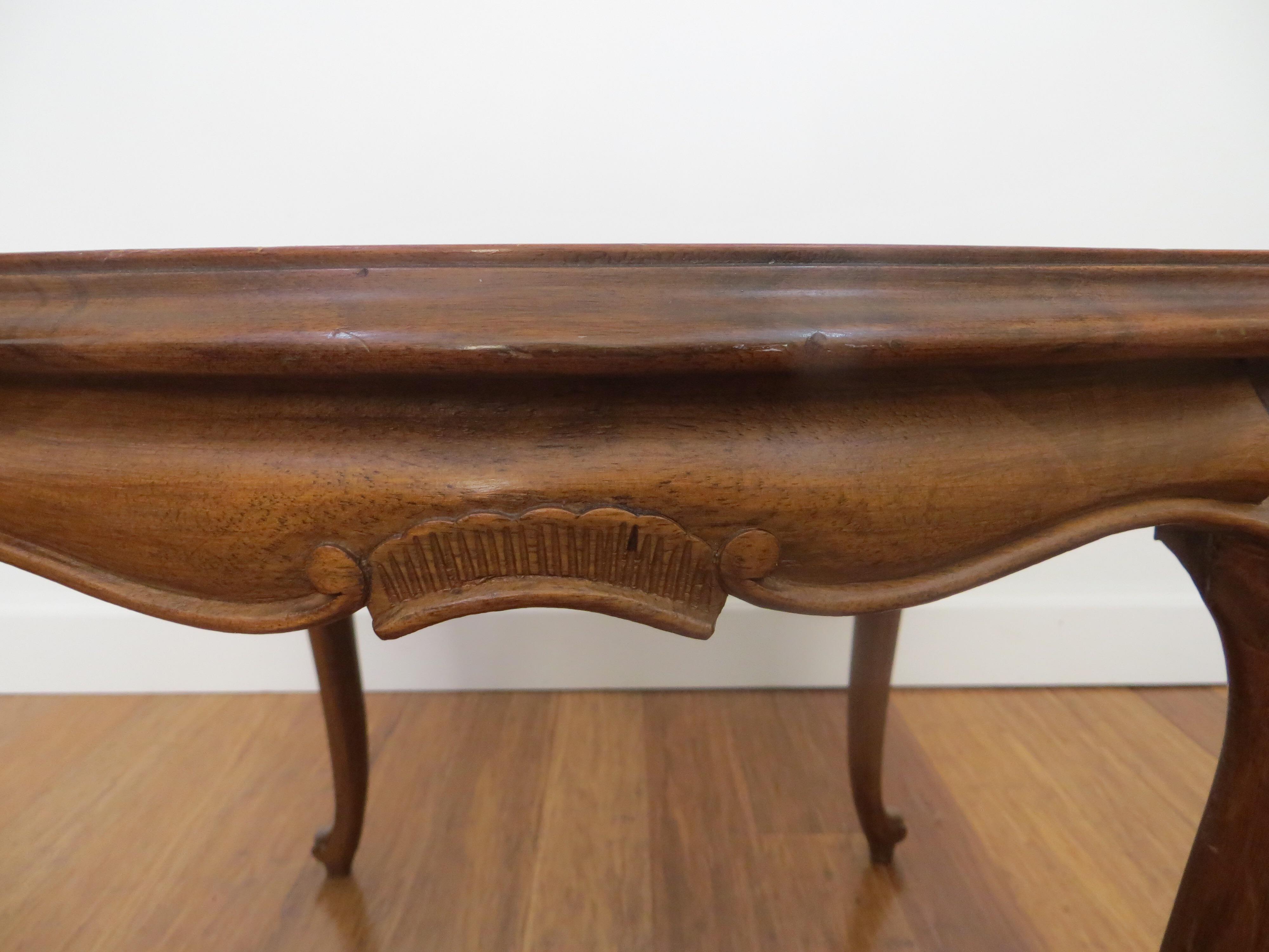 Genova Coffee Table: Molinari Vintage Italian Wooden Table