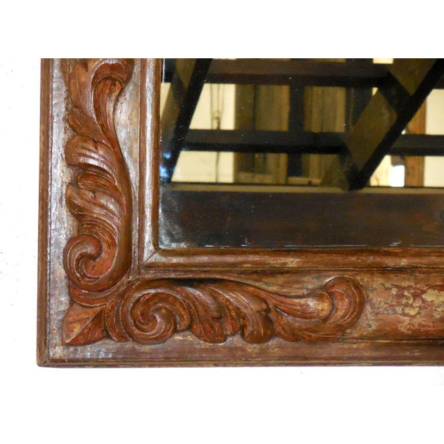 Hand-Carved Wooden Mirror - Image 4 of 6
