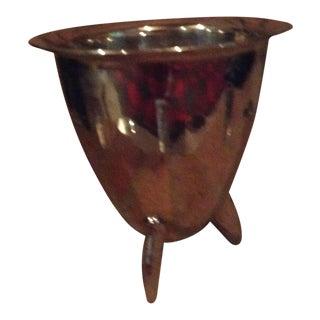 Post-Modern Silver Metallic Bowl
