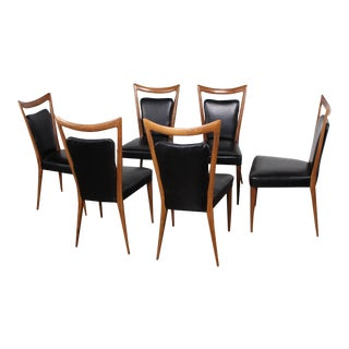 Set of Six Dining Chairs by Melchiorre Bega