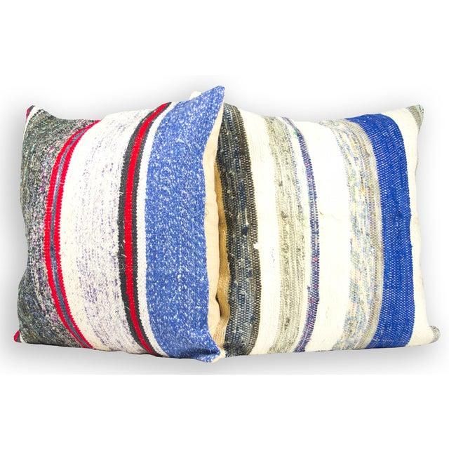 "Turkish Kilim 20"" Pillows - A Pair - Image 2 of 3"