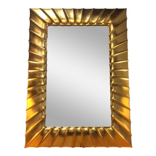 "Christopher Guy ""Coquille"" Custom 24k Gold Leaf Mirror"